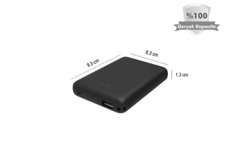 Mini 5000 mAh Powerbank Harici Batarya