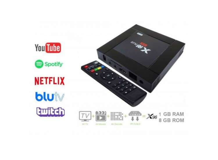 X96 Plus 4K Android TV Box 1GB Ram 8GB Rom